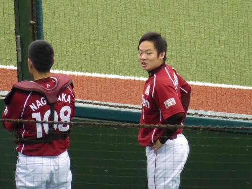 この日の松井は肩をつくることはありませんでした。
