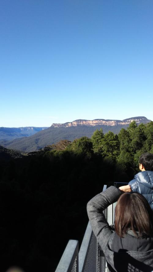 素晴らしい好天、噂通り山が青く見えます