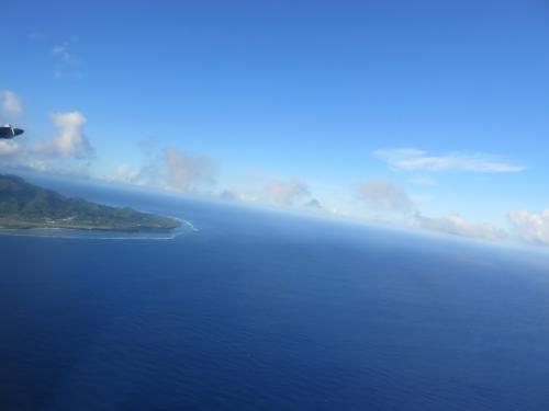 ラロトンガ島を離れる瞬間も大好きです。