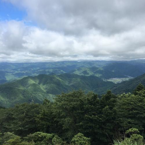 京都市北部の山並みの美しさ。