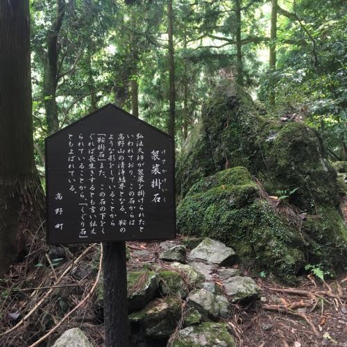 袈裟掛石。ここから高野山の清浄結界になるらしい。