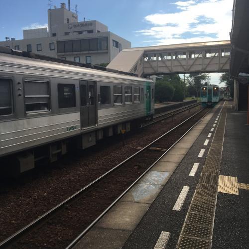 電車で阿波池田へ移動。単線なのでお待たせしましたな感じ。