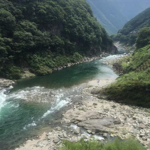 吉野川。だいぶ上流っぽい雰囲気になってきた。