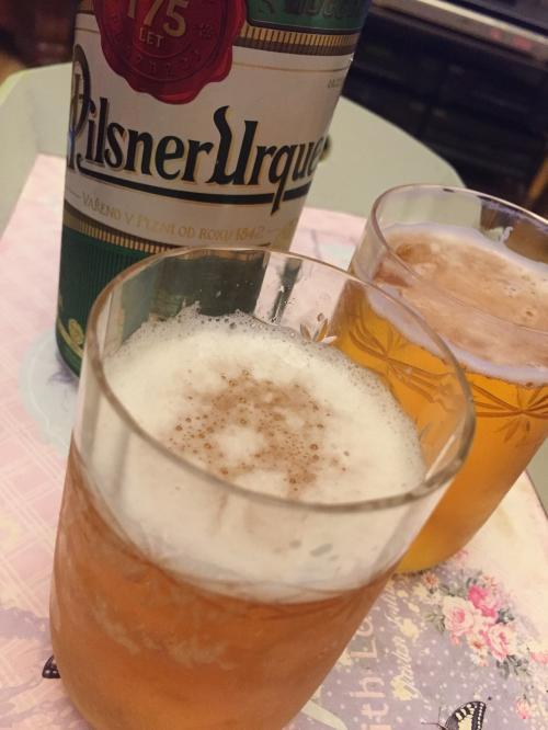 ホストファミリーがチェコのビールを用意しておいてくれました。