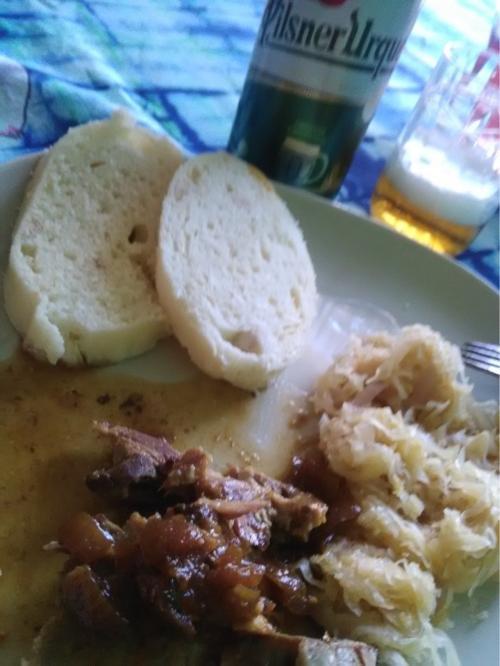 チェコの家庭料理をいただきました。