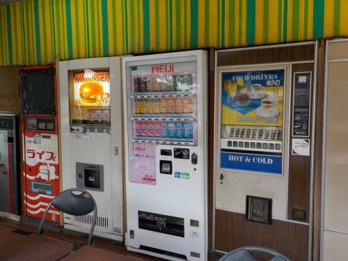ハンバーガー。の自販機。