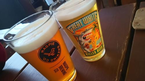 昼からビール!サイコー!