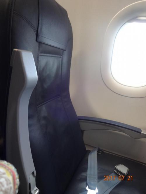 シートは皮で 座席も普通サイズ