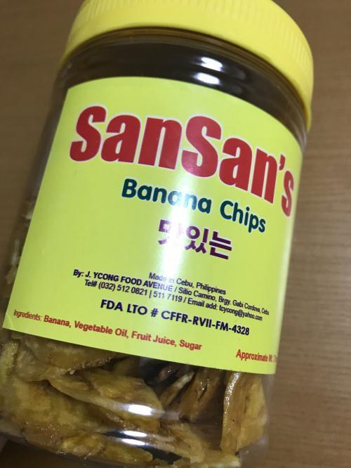 バナナチップス。<br /><br />割れないように、袋ではなくこのケースに入ったタイプをチョイス。<br /><br />