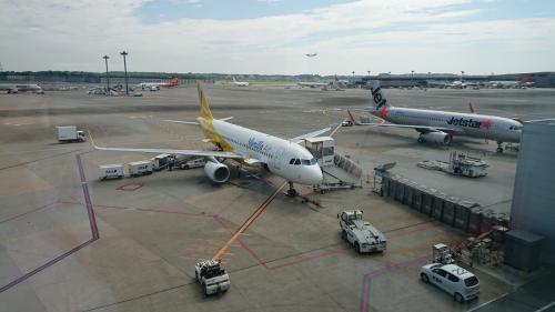 この飛行機でセブまで行きます。