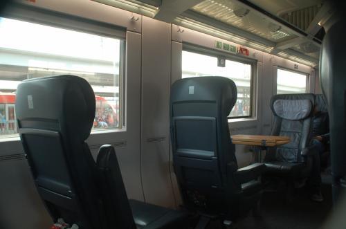 こちらは、帰りのICEの車内。ニュルンベルクで観光し、帰路についた。
