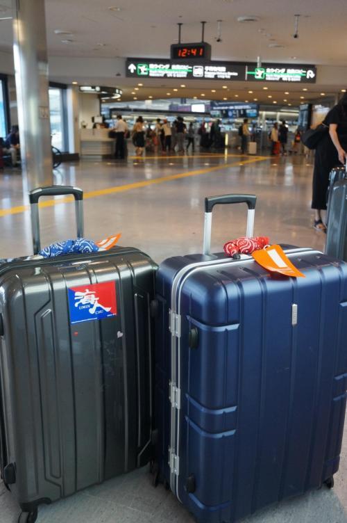 成田集合 15時30分<br />なのにせっかちな私たち…12時半には成田に着いてしまった(^^ゞ<br />飛行機が飛び立つのは17時30分。<br />前回、オーストラリアの時書類の不手際で、行けなくなりそうだった事や、電車の事故で、搭乗ギリギリになった経験がトラウマになっているからかな…『早めに行こう!』という事になった。<br />今回eTAは旅行会社にお願いしたので(別料金)安心♪