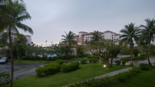 ホテル棟方面の眺め<br /><br />ヤシの木が 南国を感じさせますね~