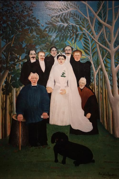 アンリ・ルソー「婚礼」1904‐05年<br />素朴派の画家アンリ・ルソーの代表的な肖像画かつ集団人物画