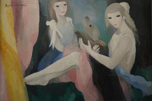 マリー・ローランサン「犬と女性たち」