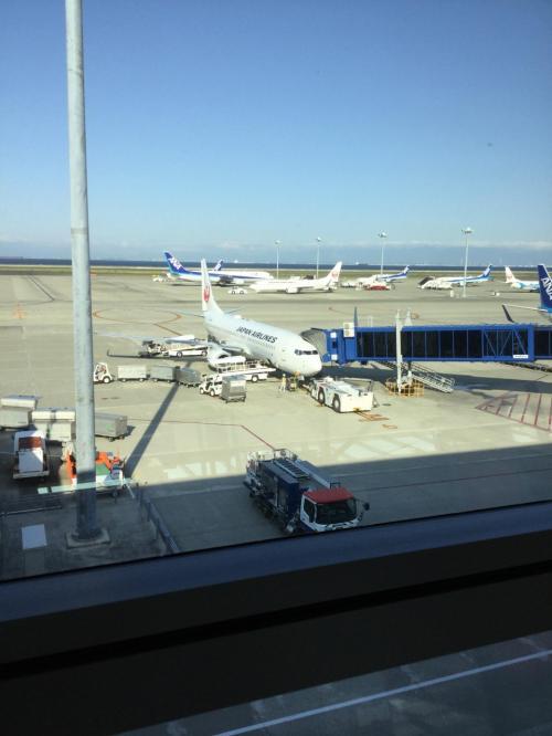 朝7:45 セントレア発羽田行きで羽田へ向かいます!<br /><br />快晴です。<br />