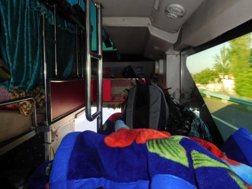 寝台バスの様子。