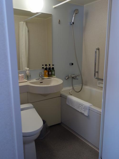 バスルームも広い。