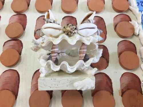 貝殻シーサー