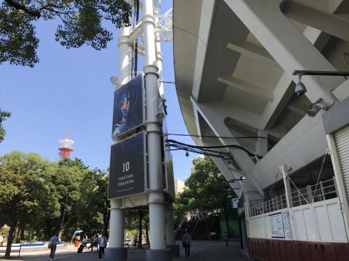 2017/9/9 (土)ブルーラインの関内駅から徒歩3分、横浜スタジアムを通り、横浜中華街を目指しました。