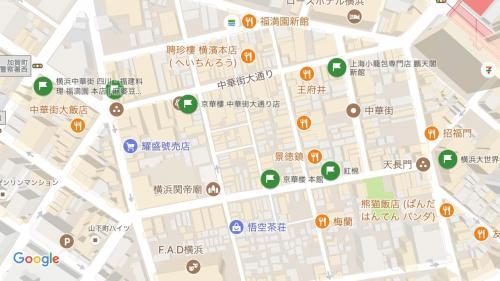 本日の目的のお店達。<br />四川麻婆豆腐は『京華樓』か『福満園』が美味しいらしいのでどちらかに行こうと考えていました。