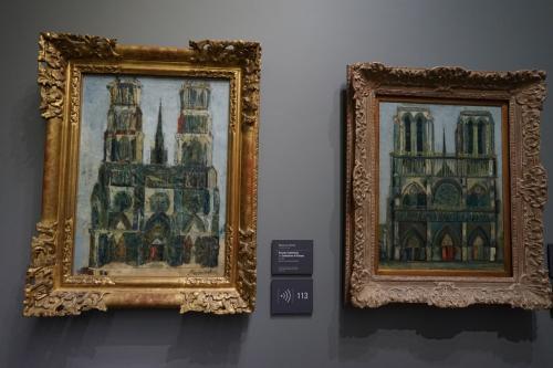 モーリス・ユトリロ<br />左「ノートルダム寺院」<br />右「大聖堂」