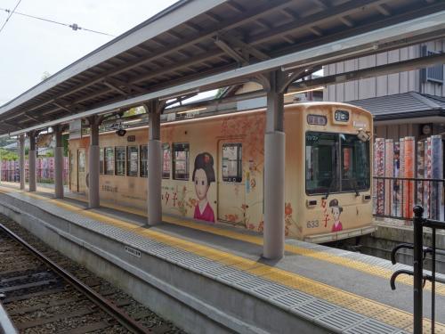 かわいい電車。