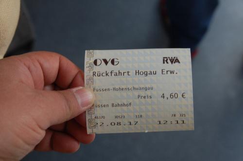 往復で4.6ユーロだった。(大人二人分)