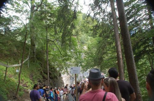山道を歩いて行くと、マリエン橋がある。