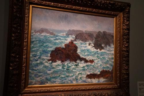 クロード・モネ「雨のベリール」1886年<br />ここからの5作品は「TOKYO-PARIS ブリヂストン美術館の名品ー石橋財団コレクション展」として展示されていた石橋財団コレクションになります。