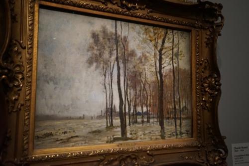 クロード・モネ「アルジャントゥイユの洪水」1872-73年<br />ここからの5作品は「TOKYO-PARIS ブリヂストン美術館の名品ー石橋財団コレクション展」として展示されていた石橋財団コレクションになります。