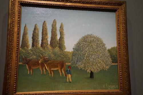 アンリ・ルソー「牧場」1910年<br />この作品は「TOKYO-PARIS ブリヂストン美術館の名品ー石橋財団コレクション展」として展示されていた石橋財団コレクションになります。<br />