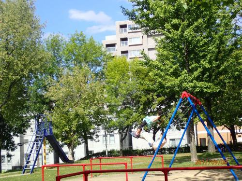 南郷通とサイクリングロードの間に位置している公園。なんていう公園だろう。