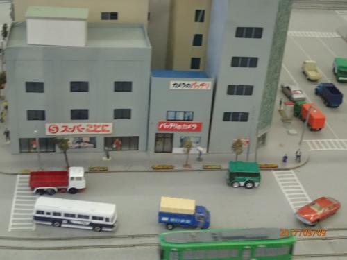 模型や、古い乗車券なども展示されていました。