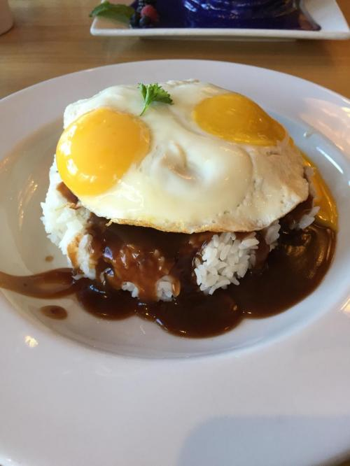 Loco Moco @ Yogur Story. one of popular Hawaiian local food.