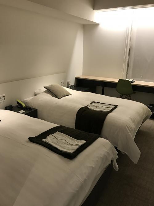 ツインルームを予約してました。<br />室内も大きなテレビやおしゃれな装飾でスタイリッシュな空間でした