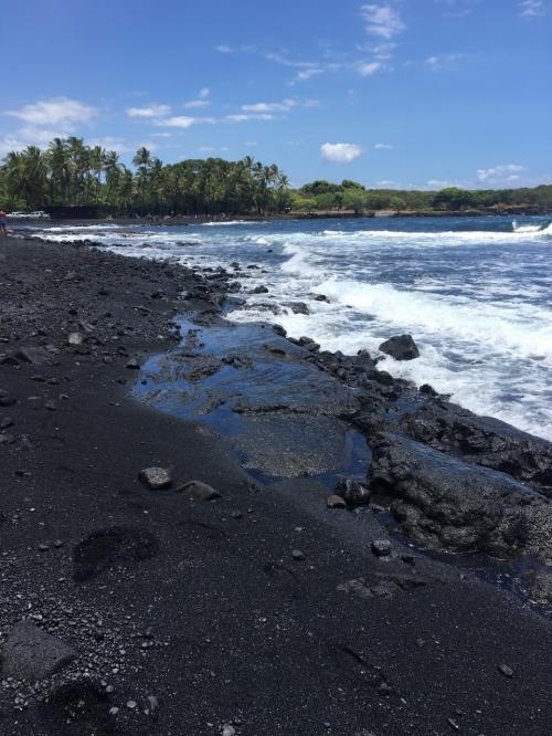 そして『PunaluuBlack Sand Beach』へ。<br />