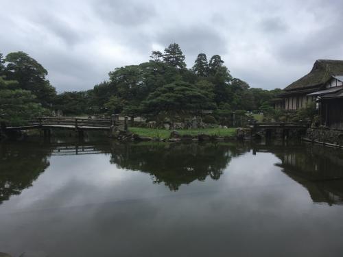 チケットに含まれていた玄宮園の日本庭園