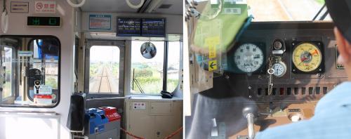(15:30)<br />観音寺行き、普通列車の車内です。<br />この列車、ワンマン運行でした。<br />線路が直線コースです。<br />スピードメーターを見ると105キロを表しています。<br />1両だけの列車が疾走します。線路が悪いのか、揺れてブラインドからガタガタと言う音が出ていました。<br />運転士の懐中時計。15時30分になっています。<br />