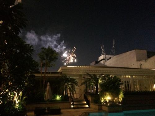 ちょうどベトナム独立記念日で花火が!