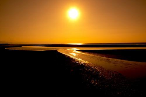 まずは夕日百選の真玉海岸です。