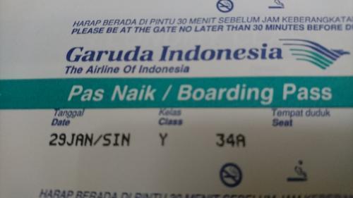 シンガポールにいちど入国した後、翌日デンパサールへ向けて出発です。