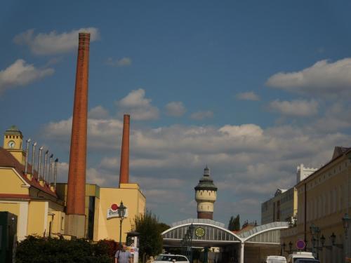 煙突と水道塔。