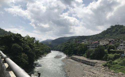 途中にあった川<br />