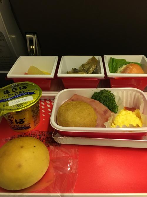 深夜便の唯一の欠点は、機内食かも。朝ごはん…テンションは上がらないかも…