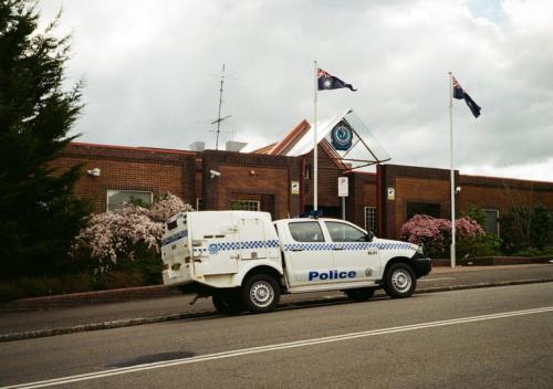 宿のお隣りの警察署。