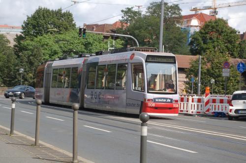 ニュルンベルクの路面電車。