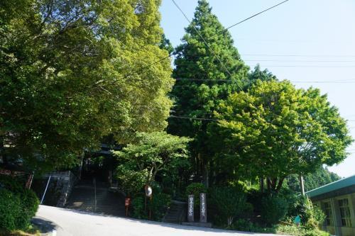 さて、ここから国道の脇に入った山に向かう枝道の先が美空ひばりゆかりの大杉です。<br />