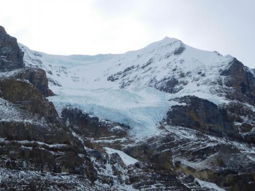 コロンビア大氷原にて、アンドロメダ氷河