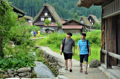 白川郷の風景。